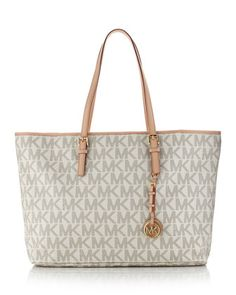 MICHAEL Michael Kors  Jet Set Logo Macbook Travel Tote. #michael #kors #purses #Michael #Kors #Bags