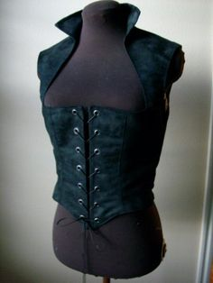 Black Suede Renaissance Gothic Bodice made to fit you! by desree10 on Etsy https://www.etsy.com/listing/197530437/black-suede-renaissance-gothic-bodice