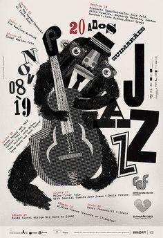 Diseño, posters y tipografía de ATELIER MARTINOÑA  Estudio portugués con una producción impecable en posters, combinados con tipografía y música.