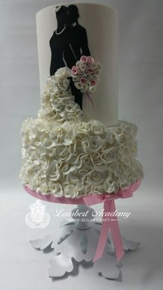 Silhouette Wedding Cake - Cake by Lesi Lambert - Lambert Academy of Sugar Craft