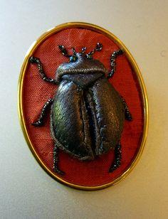 Stumpwork leather beetle