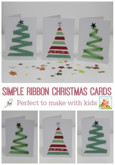15 DIY Christmas Cards Kids Can Make; a collection of 15 amazing yet simple Christmas Card Craft ideas for kids from toddler to teen! Christmas Cards Handmade Kids, Diy Holiday Cards, Simple Christmas Cards, Christmas Card Crafts, Homemade Christmas Cards, Kids Christmas, Easy Diy Xmas Cards, Handmade Cards, Christmas Activities For Kids