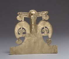 Bird Pendant. Date: 10th–16th century. Geography: Colombia. Culture: Muisca. Medium: Gold (cast).