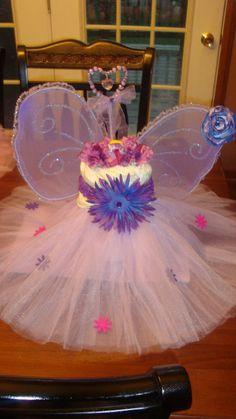 Diaper cake centerpiece tutu princess