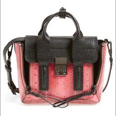 3.1 Phillip Lim Pashli Mini Leather & Snakeskin Black leather with pink snakeskin Pashli Mini Satchel by 3.1 Phillip Lim 3.1 Phillip Lim Bags Satchels