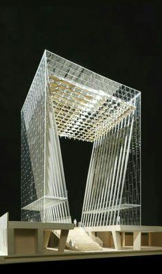Maqueta, estructura y cristal