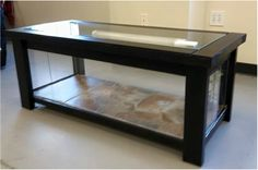How to build a coffee table to house your bearded dragon or other reptile! How to build a coffee table to house your bearded dragon or other reptile! Terrarium Serpent, Bartagamen Terrarium, Terrarium Reptile, Coffee Table Terrarium, Bearded Dragon Funny, Bearded Dragon Habitat, Bearded Dragon Cage, Tortoise Habitat, Reptile Habitat