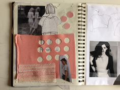 Fashion Sketchbook - fashion design process with research, sketching & fabric sampling; developing a fashion collection // Pitchouguina