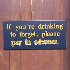funny bar signs | Bar Sign, Funny Bar Sign, Beer Sign, Beer Gift, Drinking Sign