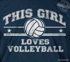 This girl loves volleyball (vintage) - gift team athletic sports cool t-shirt  #Premiumsoftslimfit #GraphicTee