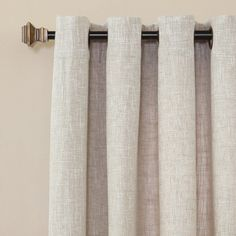 Lights Out Solid Heavyweight Faux Linen Grommet Top Curtain Panel Pair - Overstock Shopping - Great Deals on Lights Out Curtains Burlap Curtains, Lined Curtains, Colorful Curtains, Grommet Curtains, Dining Room Drapes, Dining Room Blue, Living Room Windows, Sheer Drapes, Sheer Curtain Panels