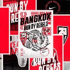 Run By Rebels for the good folks @nikerunning #nike #nikerunning #runbyrebels #bangkok #ilovedust #wheatpaste #illustration #typography