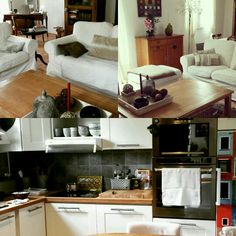 Maison cuisine salon  Marolles Kitchen Cabinets, Bench, Storage, Furniture, Home Decor, Projects, Living Room, Kitchens, Purse Storage