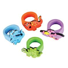 Dinosaur Rubber Rings (1 Ring) at theBIGzoo.com
