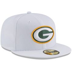 Green Bay Packers New Era Omaha 59FIFTY Fitted Hat - White 6f50696d3