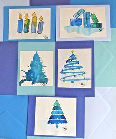 Image result for aquarell karten weihnachten