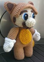 Raccoon Mario - crochet_goods