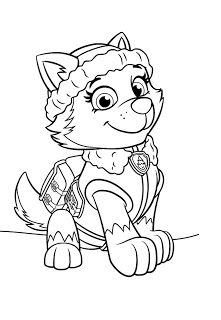 Paw Patrol Everest Coloring Pages Free Online Printable Sheets For Kids Get The Latest Images