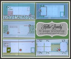 """When I first saw the new Seasonal Expressions 1 book, I instantly fell in love the the """"Hello Lovely"""" paper line. It features roses...which ..."""