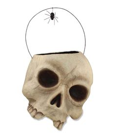 034c6a4f5e1 Skelly Skull Candy Container Large Paper Mache Halloween bucket. Halloween  Buckets