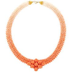Gorgeous Woven Coral Necklace