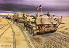 Kentucky National Guard Unit on the front 1991 Military Police, Military Art, Military History, Operation Desert Shield, Pictures Of Soldiers, Action Pictures, My War, Iraq War, Battle Tank