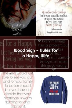 Wood Wedding Signs Wood Wedding Signs, Wood Signs, Happy Wife Quotes, Never Give Up, Let It Be, Perfect Relationship, Wedding In The Woods, Marriage, Wooden Plaques