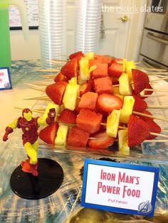 Iron Man's Power Food (fruit kabobs) More
