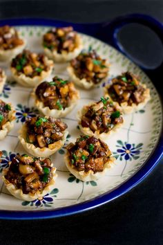 These Hoisin Mushroom Phyllo Cups will disappear from the appetizer table in minutes! So much flavor packed into one little bite.