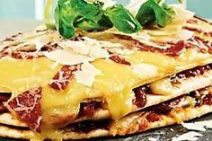 Pizza triple-decker sandwich