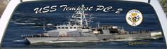 USS Tempest PC 2 Patrol Boat Rear Window Graphic Mural.