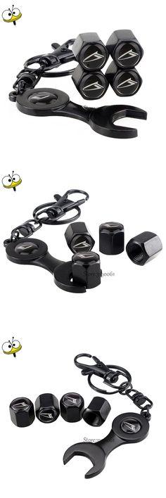 Car Styling Keychain Auto Car Wheel Tire Valve Stem Caps for Daihatsu Terios Sirion Mira Feroza Charade YRV Materia Copen