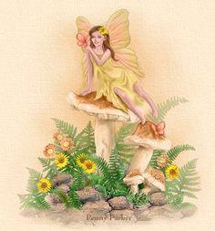 yellow shroom fairy