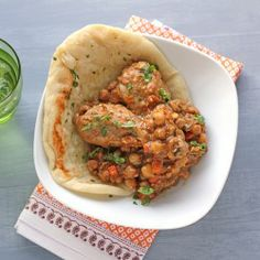 Moroccan Chicken and Flat Bread