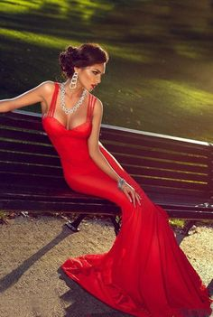 Sexy Red Mermaid Spaghetti Straps Sleeveless Backless Prom Dresses 2019 Open Back - Style Evening Dresses Straps Prom Dresses, Prom Dresses 2017, Backless Prom Dresses, Dress Straps, Red Dress Casual, Casual Dresses, Formal Dresses, Dress Red, Mermaid Evening Dresses