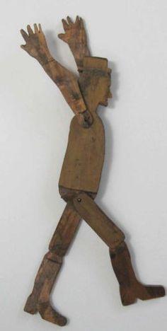 Fabulous Folk art dancing wooden man