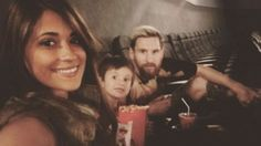 Lionel Messi: Barcelona star enjoys movies with his family