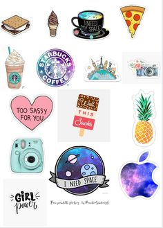 Preppy Stickers, Cool Stickers, Journal Stickers, Planner Stickers, Homemade Stickers, Wallpaper Stickers, Free Printable Stickers, Tumblr Stickers, Overlays