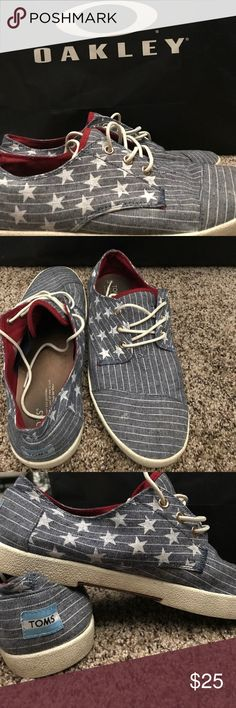 Toms Stars and Stripes classic shoes Brand New condition!! worn once or twice TOMS Shoes Sneakers