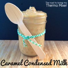 This is a my version of homemade thermomix Caramel Condensed Milk that I use in baking now and for sweets and deserts. It is similar to Top n' Fill but I think much more delicious. It's luscious, creamy and thick. Caramel Recipes, Milk Recipes, Sweet Recipes, Baking Recipes, Caramel Dip, Eagle Brand Milk, Bellini Recipe, Thermomix Desserts, Golden Syrup
