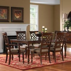 Standard Furniture Woodmont 7 Piece Rectangular Dining Table Set - Dining Table Sets at Hayneedle