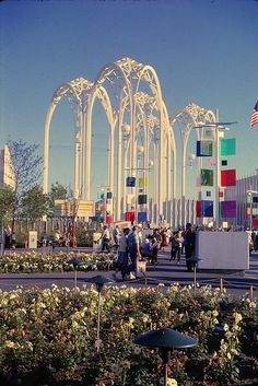 A View of the Science Pavilion Arches - 1962 Seattle World's Fair by The Pie Shops, via Flickr