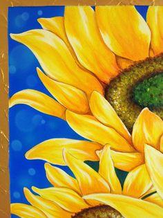Sunflower Acrylic Painting Original by Suntarees on Etsy