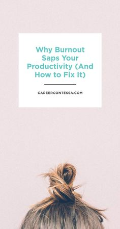 """Being noticeably busy is often a badge of honour, but constantly working at full tilt is a sure way to find yourself suffering from burnout."" 