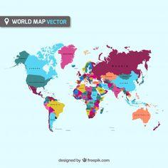 Descarga gratis vectores de Mapa del mundo vector