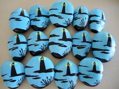 Glow In Dark Lighthouse Painted Rock