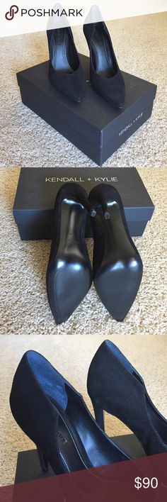 """Kendall + Kylie pumps NEW - Kendall + Kylie Abi suede single sole pointed toe pumps. 4.33"""" heel. ✖️no trades   no paypal✖️ Kendall & Kylie Shoes Heels"""