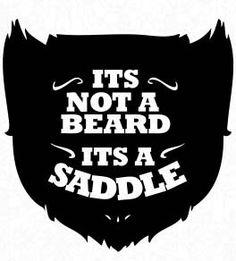 Beard Saddle Vinyl Sticker