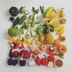 Felt Food by Tomomi Maeda : Vegetables, Fruits