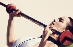 Julia Noni pumps it up for Vogue China, model Mona Matsuoka.